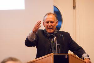 Peter Helms, Vorstand ees e.V., auf der Veranstaltung Flensburg braucht eine Wasserstofftankstelle für die Energiewende am 31.03.2017 in Flensburg (Borgerforeingen)